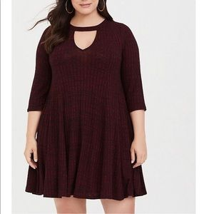 torrid Dresses - Torrid ribbed knit sweater skater dress